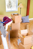 Moving: Boxes and Items In An Apartment Royalty Free Stock Image