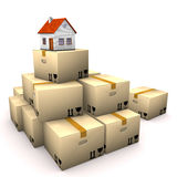 House Moving Boxes Stock Photography