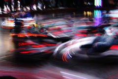 Moving bumper cars Stock Photography