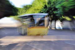 Moving bus Stock Photos