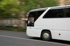 Moving bus Stock Image