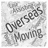 Moving business overseas word cloud concept word cloud concept  background. Text Stock Photography