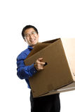 Moving businessman Stock Image
