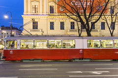 Moving Cable Car in Vienna Stock Images