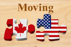 Moving from Canada to the USA Royalty Free Stock Photos