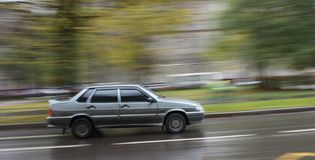 The moving car Royalty Free Stock Images