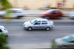 Moving Car stock image