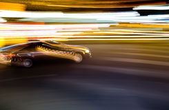 Moving car blur Royalty Free Stock Images