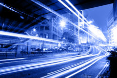 Moving car with blur light Royalty Free Stock Photos