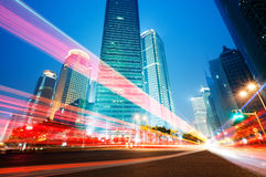 Moving car with blur light Stock Image