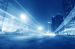 Moving car with blur light Stock Images