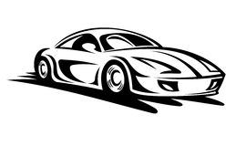 Moving car. Fast moving car for race sports design Stock Images