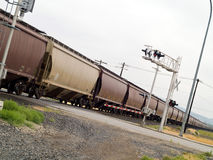 Moving Cargo Trains Royalty Free Stock Image
