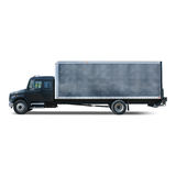 Moving and Cargo Transport Truck. A black moving and transport truck ready to be loaded Royalty Free Stock Image