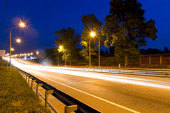 Moving cars at night Royalty Free Stock Photo
