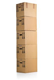 Moving carton boxes stack Stock Image