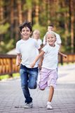 Moving children Royalty Free Stock Photo