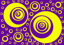 Moving circles. Optical illusion design image background layer Stock Photo
