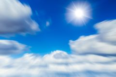 Moving cloud sky flying for future of business concept royalty free stock photos