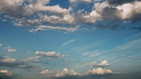 Moving clouds and blue sky time lapse. Moving clouds and blue sky time lapse Stock Photography