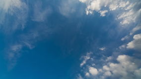 Moving Clouds and Blue Sky. Time lapse stock video footage