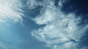 Moving clouds and blue sky time lapse. 3d rendering Royalty Free Stock Images