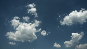 Moving clouds and blue sky time lapse. 4K. 3d rendering stock video footage