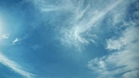 Moving clouds and blue sky time lapse. 4K stock video