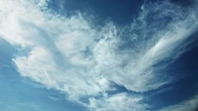 Moving clouds and blue sky time lapse. 4K stock footage