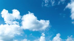 Moving clouds and blue sky. White clouds and blue sky, time lapse stock video