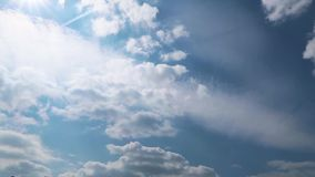 Moving clouds full HD. Timelapse with moving clouds full HD. Horizontal view stock video footage