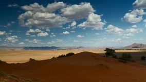 Moving clouds over the Elim dune, Sossusvlei. Namibia, Africa stock video