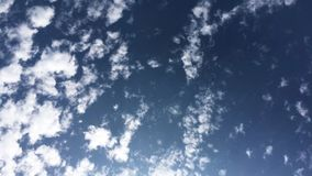 Moving clouds Time lapse. On a sunny day stock video footage