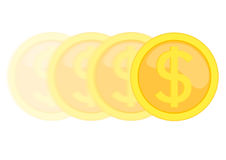 Moving coin Royalty Free Stock Photo