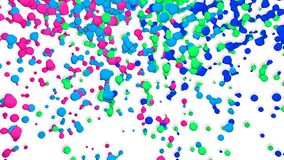 Moving Colores Particles stock video