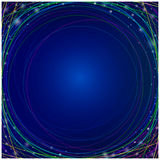 Moving colorful lines of abstract background. Perspective illustration. Infinite space Stock Image