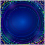 Moving colorful lines of abstract background. Perspective illustration. Infinite space Royalty Free Stock Photos