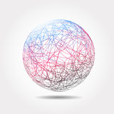 Moving colorful lines of abstract background. Vector Illustration royalty free illustration