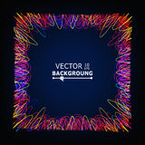 Moving Colorful Lines. Glowing Abstract Vector Background. Composition With Place For Text Royalty Free Stock Photo