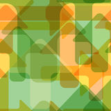 Moving colorful transparent arrows, seamless vector pattern.  Stock Photos