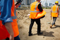 Moving on construction site Stock Images