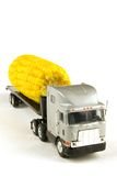 Moving corn. A big truck with corn on the back of it Royalty Free Stock Photos