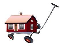 Moving cottage Stock Photo
