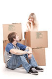 Moving couple Stock Photography