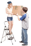 Moving couple Stock Images