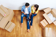 Moving in couple royalty free stock image
