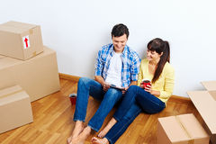 Moving in couple Stock Image