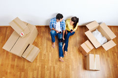 Moving in couple Royalty Free Stock Photo