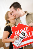 Moving: Couple Successfully Sells House Royalty Free Stock Photo