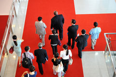 Moving crowd Stock Image